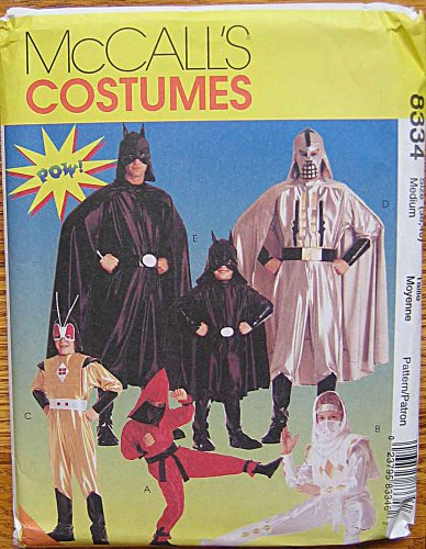 McCall's 8334 Adult Size 38, 40 Star Wars, Nija, Batman Costume Pattern for $<!--$14.99-->