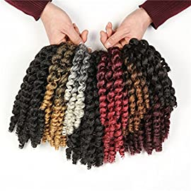 3 packs JAMAICAN BOUNCE Wand Curl Crochet Hair Synthetic Hair Crochet Braids African Collection light brown
