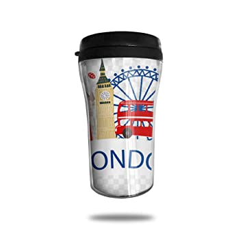 fa08c3d1185 Amazon.com: FTRGRAFE Big Ben London Eye London Victoria Station Travel  Coffee Mug 3D Printed Portable Vacuum Cup,Insulated Tea Cup Water Bottle  Tumblers for ...