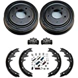 100% New Rear Drums Shoes Wheel Cylinders Spring Kit Bronco Full Size E150 F150