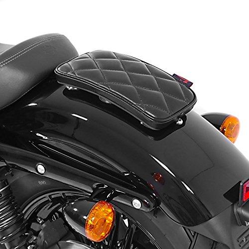Sellino Passeggero con Ventose per Harley Davidson Sportster 883 R Roadster (XL 883 R) Craftride Diamond nero