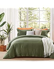 NexHome Duvet Cover Sets Double Brushed Microfiber-Comforter Cover with Button Closure & Corner Ties-Breathable and Soft