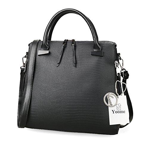 Yoome Borse a tracolla per la borsa a tracolla per donne Borse a tracolla crossbody per ragazze Borse gotiche - Nero