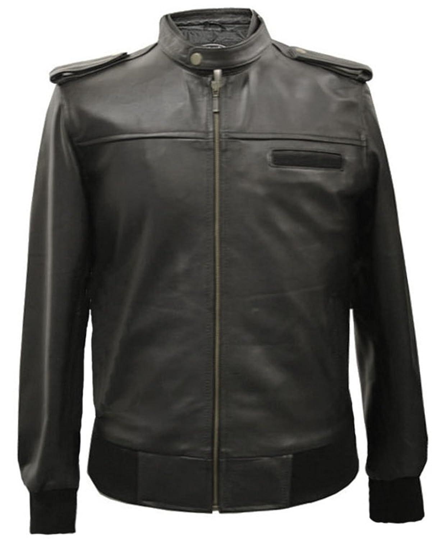 Mens Black Real Leather Jacket