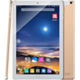 """Padcod 10.1"""" Android 7.0 Tablet,Quad-Core Processor, 32GB ROM + 2GB RAM,2G/3G Network Phone Calling,2MP+5MP Camera, Wifi/Bluetooth 4500mAh Large Battery Capacity Tablet (Gold)"""