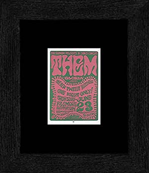 Them New Tweedy Brothers - Fillmore Auditorium June 66 Framed and Mounted Print - 20x18cm