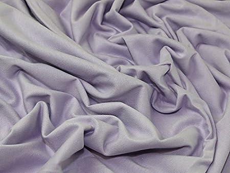 Algodón y elastano elástico Jersey Knit vestido Tela lila – por metro: Amazon.es: Hogar