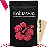 Kyпить Hard Wax Beans for Painless Hair Removal (large 1 lb bag with Coconut oil) - Smooth Facial and Body Hair Depilatory Pearl Beads for Wax Warmer Kit, Brazilian Bikini Waxing, KōluaWax for Women and Men на Amazon.com