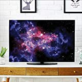 L-QN Front Flip Top Dusty Gas Cloud Nebula and Star Clusters in The Outer Space Cosmos Solar Deco Front Flip Top W19 x H30 INCH/TV 32''