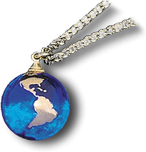 Half Inch Diameter Blue Earth Marble With 22k Gold Continents Recycled Glass