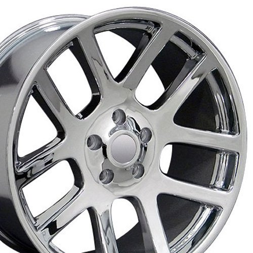 22x10 Wheel Fits Dodge, RAM Trucks - RAM SRT Style Chrome Rim, Hollander 2223 Dodge Srt 10 Truck