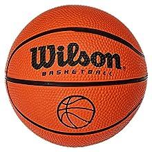 Wilson B1717 Pelota de Baloncesto Micro Interior y Exterior, Unisex, Naranja, Talla Única