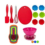 Kids Baking Set - 18 Piece Real Baking Supplies For Kids Bundle - Includes A Kitchen Scale With A Removable Bowl To Mix Ingredients Ready To Use Kids Cooking Set Bundle by FRACHAR - Kids Kitchen Set