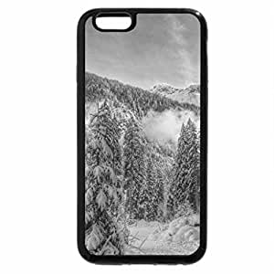 iPhone 6S Case, iPhone 6 Case (Black & White) - magnificent winter forest scene hdr