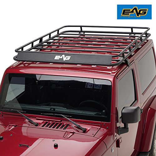 Eag 2007 2018 Jeep Wrangler Jk Full Length Roof Rack Cargo