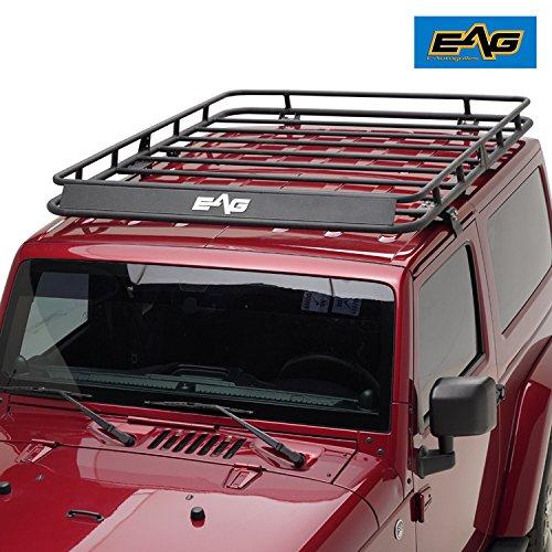 EAG 2007-2018 Jeep Wrangler JK Full Length Roof Rack