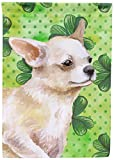 Caroline's Treasures BB9871GF Chihuahua Leg up St Patrick's Decorative Outdoor Flag, Garden Size, Multicolor For Sale