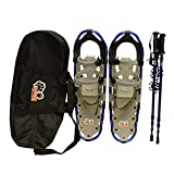 New MTN Extreme Lightweight All Terrian Man Woman Kid Teen Snowshoes +Pole + Free Bag (27inch)