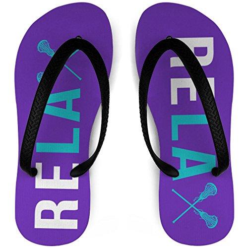 Filles Lacrosse Flip Flops Relax Violet / Sarcelle