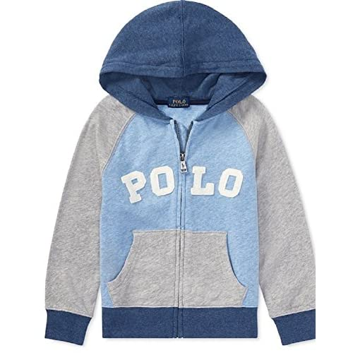 discount RALPH LAUREN Boys Cotton Spa Terry Hoodie, Size 2/2T, Grey Heather save more