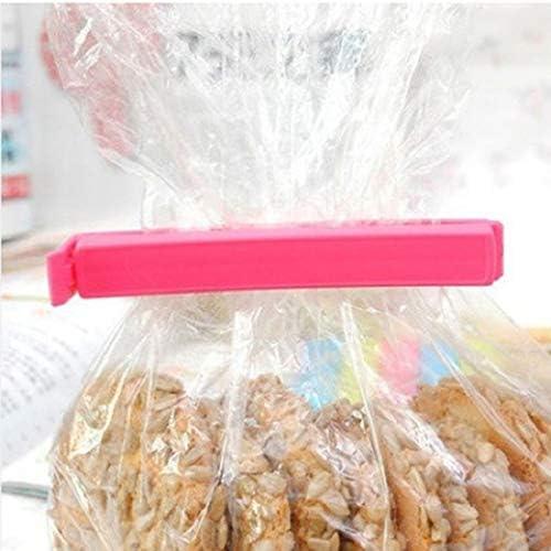 Romote 5Pcs K/üchenzubeh/ör Snack Kunststoff-Clip Lebensmittel Lagersiegelwerkzeug Frucht Preservation Beutel-Halter-K/üche Gadget