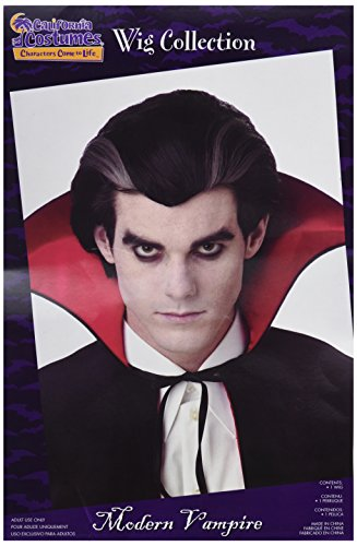 California Costumes Men's Modern Vampire Wig,Black,One -