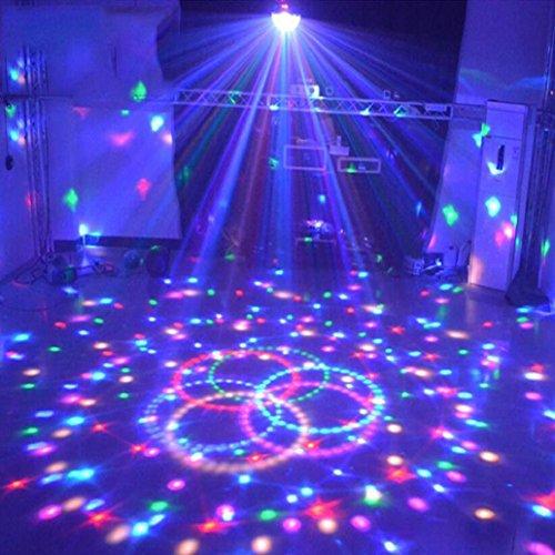 Binmer(TM) DJ Lamp MP3 Bluetooth LED Crystal Magic Ball Projector Stage Show Light Club KTV (A) (Wings Fairy Club Pink)