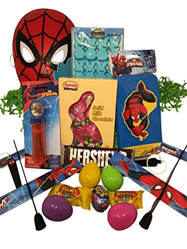 Spiderman Easter Basket Bundle with Spiderman Toys, Candy, and Easter Eggs for $<!--$25.00-->