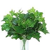 JUYO VONSAN 8pcs Artificial Plants Ivy League Leaves Fake Plants Bridal Home Garden Office Floor Restaurant Wedding Decoration (8)
