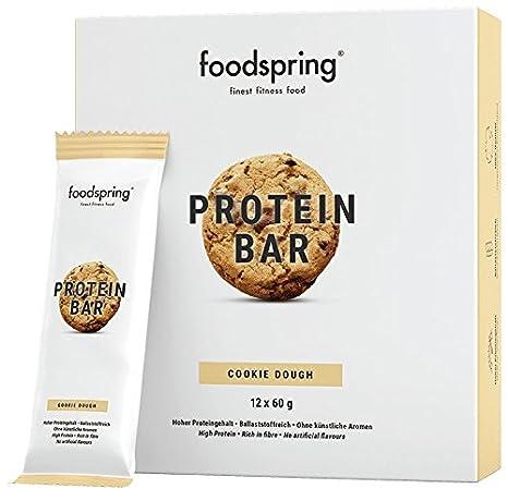 foodspring - Barritas proteicas - Sabor Cookie Dough - 33% de proteína - Sin azúcares