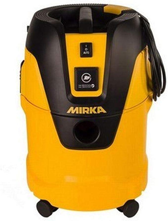 Mirka extractor de polvo 1025 L GB 230 V apto para mojado y seco aplicaciones Push & Clean sistema de limpieza de filtros 25L contenedor tamaño 5 m Cable tamaño Equipada con