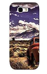 Flexible Tpu Back Case Cover For Galaxy Note 2 - Old Gmc Truck In The Mountains