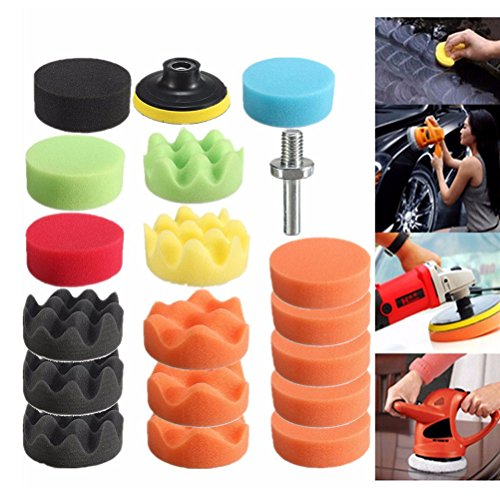 3 Inch Polishing Pad Sponge Buff Set For Car Polisher 80mm (19 PCS) by Blossom Store (Image #1)