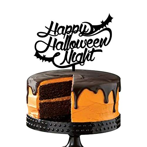Halloween Decorations Cake Toppers,Flying Bat Design,Scary Gothic Decor Party Gift, -