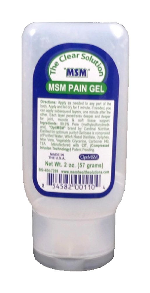 Purified OptiMSM in Odor-Free Quick Absorbing Gel (2 oz) Travel Size