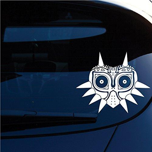 Zelda Majoras Mask vinilo calcomanía para ventana, Laptop, motocicleta, paredes, espejo de coche y más. SKU: 552, Blanco