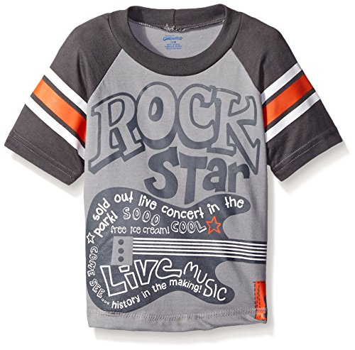 Gerber Graduates Boys Short Sleeve Raglan T-Shirt, Rock Star, 12 Months