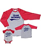 Team Mommy and Mommy's Team Baseball Shirts; Each Sold Separatly