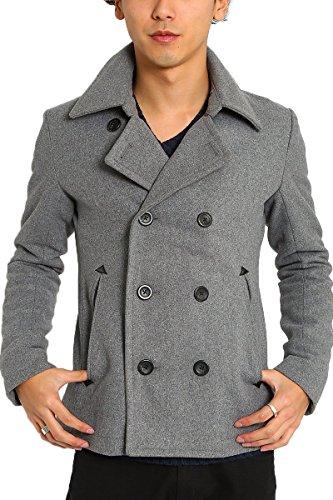 インプローブス ピーコート Pコート メルトン ウール ショート コート ショート丈 ダブル メンズ