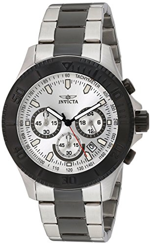 45mm Case Chronograph - Invicta Men's 17364 Pro Diver Analog Display Japanese Quartz Two Tone Watch