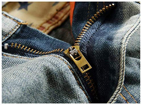 De Delgados De Los Los Desglosados Skinny Vaqueros De Pantalones Pantalones Del Los Del Hombres Vaqueros Vaqueros De Los Pantalones Delgados Con Motorista Grau Agujeros Hombres Algodón Dril Rasgado HtAw55qzK