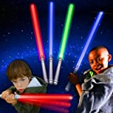 LED Assorted Colors Glow in the Dark Kids Light Sabers (12 Pack) Bulk