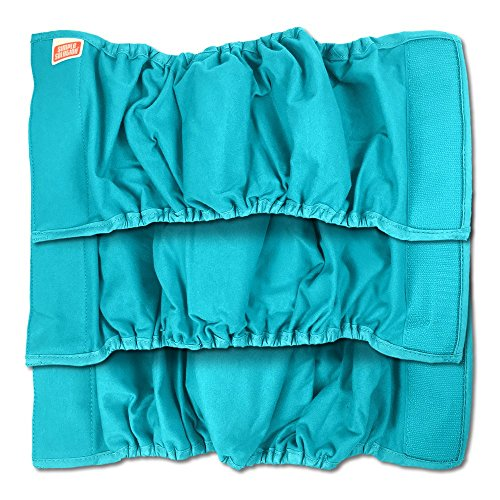 Simple Solution Washable Male Wrap Dog Diaper, Medium Size, 3 (Dry Fur Pads)
