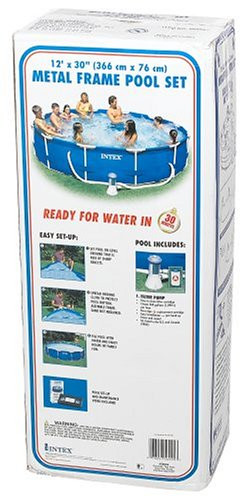 Amazon.com: Intex 12-Foot by 30-Inch Metal Frame Pool Set: Garden ...