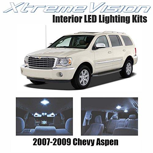 Aspen Interior Chrysler - XtremeVision Interior LED for Chrysler Aspen 2007-2009 (14 Pieces) Cool White Interior LED Kit + Installation Tool