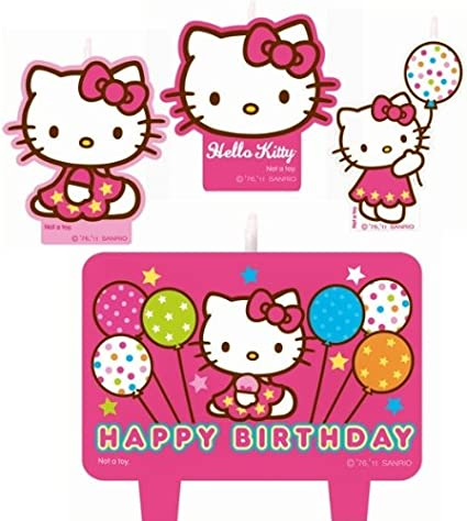 a37697861 Image Unavailable. Image not available for. Color: Hello Kitty Cake Candles  Set Decoration ...