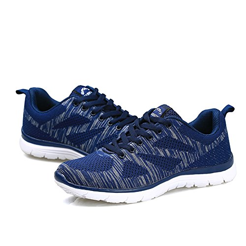 Sneakers EU Air Sportive da Atletico 36 Running Allacciare Ginnastica Uomo Blu Cushion 43 Donna Scarpe populalar PTnUq06E