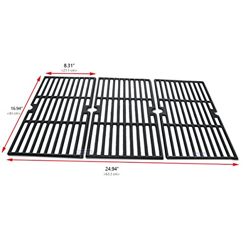 Uniflasy Cast Iron Grill Cooking Grid Grate Replacement Parts for Broil King 987844, 987847, Charbroil 463240904, 463250512, 463251505, 463251605, 463251713, 463622514, 463650413, ()