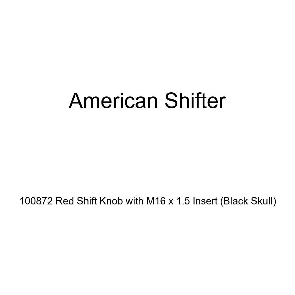 Black Skull American Shifter 100872 Red Shift Knob with M16 x 1.5 Insert