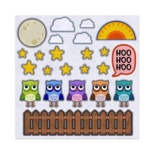 5 Little Owls Fall Autumn Nursery Rhyme Felt Play Art Set Flannel Board Story Storyboard Pieces for $<!--$20.00-->